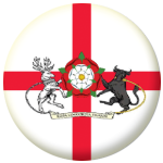 Northamptonshire Old Council Flag 58mm Mirror Keyring